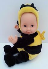 "Anne Geddes 9"" Baby Bumblebee Doll open Blue Eyes Beanie Plush Toy 2005 #E156F"