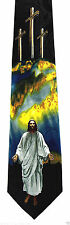 Jesus Delivered Mens Neck Tie Religious Necktie Christian Crucifixion Easter New