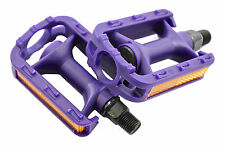 """GIRLIE BIKE PURPLE PEDALS 1/2"""" SUIT RALEIGH MOLLY & 12""""14"""" GIRLS BIKES WITH OPC"""