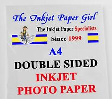 A4 155g Double Sided Gloss/Gloss Photo Inkjet Paper 2 sheet SAMPLE PACK