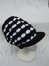 BLACK/WHITE~RASTA CROWN~JAMAICA~MARLEY~DREADS~DREADLOCKS~ETHIOPIA~HAT~CAP~ NEW