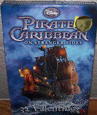 Valentines Day Cards (Box of 32) Disney Pirates of the Caribbean Stranger Tides