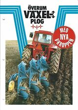 Farm Implement Brochure - Overum - Vaxel Plog Reversible Plow  SWEDISH (F4892)