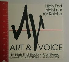 Aufkleber/Sticker: Art & Voice Hifi High end Studio (17081655)