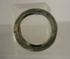 Antique Early Greco-Roman Greek Roman Bronze Band Circle Bracelet Antiquity