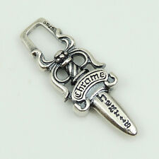 925 Stamp Sterling Silver Sword Pendant Charm Celtic Vintage DIY Jewelry WSP187