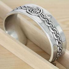 Armreif -  Zinn - Celtic  Keltische knoten -  Triskele - magische zahl Drei