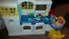 Little Tikes Victorian Country KITCHEN Table 2 Chair Coffee Food Dishes Phone