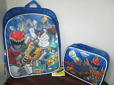 Power Rangers Dino Charge 3D FX  16 In School Backpack Book Bag & Lunch Box 2016