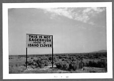 1963 THIS IS NOT SAGEBRUSH YOU'RE IN IDAHO CLOVER SIGN NEAR STREVELL IDAHO PHOTO