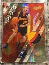 2010 Panini Star Gazing Prime Stephen Curry #4/5; AUTO and Event Worn Swatch!