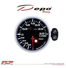 DEPO RACING DIGITAL TURBO LADEDRUCK ANZEIGE / BOOST GAUGE 52mm PK-WA5201B-3BAR