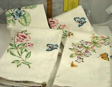 LENOX American by Design Butterfly Meadow Set of Four Dinner Linen Napkins New