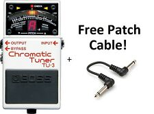 New Boss TU-3 Chromatic Guitar Pedal Tuner! FREE Patch Cable!