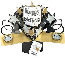 3D Pop Up Card Happy Birthday Your A Star Dad Brother Male Greeting Card For Him