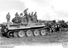 German Army Panzer Tank & Troops Russia 1943 World War 2 Reprint Photo 6x4 Inch