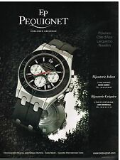 Publicité Advertising 2006 La Montre Chronographe Moorea EP Pequignet