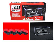 4 INDIVIDUAL DISPLAY SHOW CASES FOR 1/64 SCALE MODEL CARS BY AUTOWORLD AWDC005