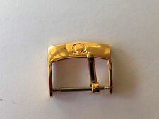 Omega 16mm Gold Plated Watch Strap Buckle