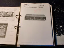 SABA Radio Service Manual Hifi 9120, VS 80 uvm. choose 1 piece, 1 Stück wählen
