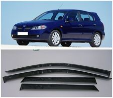 For Nissan Almera N16 Hb 2000-2006 Window Visors Sun Rain Guard Vent Deflectors