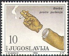 Yugoslavia 1990 Anti-smoking Campaign/Medical/Health/Welfare/Hand 1v (n28954)