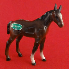 "HORSE figurine 3.5"" TALL NEW NEVER SOLD Made in England BESWICK hand painted"