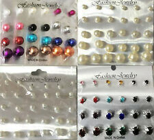 Wholesale lot of 54 Pairs of Assorted Stud Earrings New