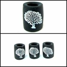 1 Handmade Tree of Life Dread Bead, Dreadlock Beads, Black and White, Unisex