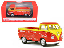 1962 VOLKSWAGEN PICKUP TRUCK COCA COLA ORANGE/YELLOW 1/43 DIECAST MCC 442338