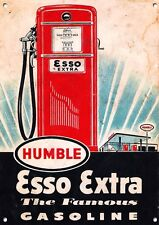 """esso Extra Gasoline"" Cars,fuel,collectable,Enamel Vintage Style   Metal Sign. 5"