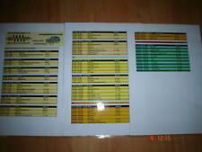 Amateur Radio Band Plan HF to 23cm Full colour Laminate