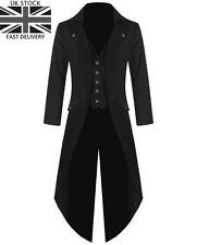 UK Seller Mens Steampunk Tailcoat Jacket Goth Victorian Coat Wedding/Party Dress