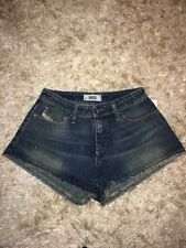 Ladies Womens Diesel CUT OFFS Sexy Denim Hotpants Shorts Jeans W27 UK Size 8