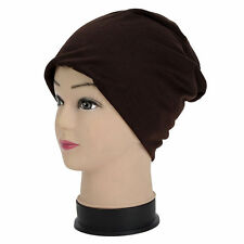 Unisex Winter Women Men Knit Ski Crochet Slouch Caps Beanie Hip-Hop Hats #Coffee