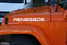 Pair of renegade hood decals stickers for Jeep