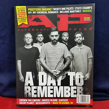 A DAY TO REMEMBER Alternative Press AP Magazine Issue 338 September 2016 Capsize