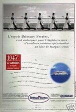 Publicité advertising 1997 Brittany Ferries