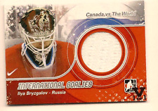 ILYA BRYZAGALOV IN THE GAME ITG FINAL VAULT DUAL GAME USED JERSEY 1/1