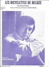 ENGELBERT HUMPERDINCK 1969 Sheet Music LES BICYCLETTES DE BELSIZE