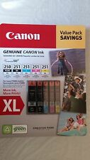 Genuine CANON PGI-250XL Black, CLI-251XL B/C/M/Y Ink Cartridges, 5-Pack