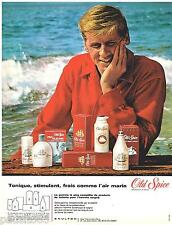 PUBLICITE ADVERTISING 085  1966  OLD SPICE  déodorant after-shave shampoing