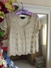 Topshop Vintage Sheer Beaded Shrug Wedding 10