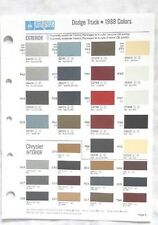 1988  DODGE TRUCK SHERWIN WILLIAMS COLOR PAINT CHIP CHART MOPAR ORIGINAL
