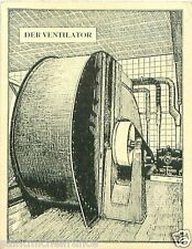 Germany Factory Machine ventilator TOBACCO HISTORY HISTOIRE TABAC IMAGE CARD 30s