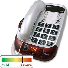 Clarity Alto White Amplified Phone - Hard of Hearing - Low Vision