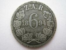 South Africa 1894 Sixpence.