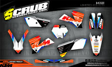 SCRUB KTM graphics decals kit EXC 125 250 300 450 525 '05-'07 stickers 2005-2007