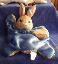 Nickelodeon Peter Rabbit Blue Bunny Plush Baby Cuddle Mat Security Blanket