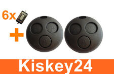 2x clé Remplacement Boîtier + 6x BOUTON MICRO pour Smart ForTwo-MC01 450